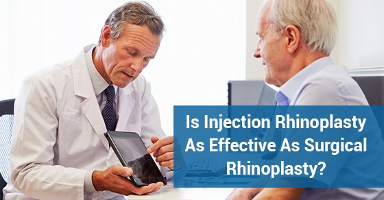 Is Injection Rhinoplasty As Effective As Surgical Rhinoplasty